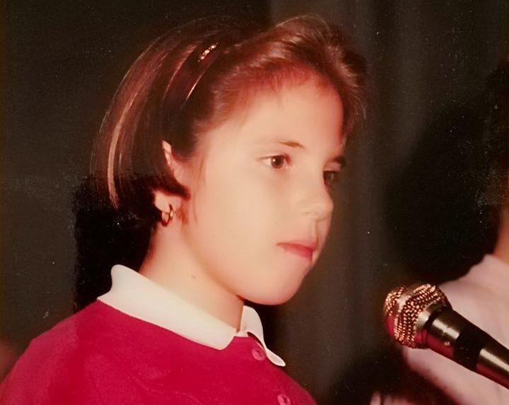 musica e benessere Cristina Verderio da piccola