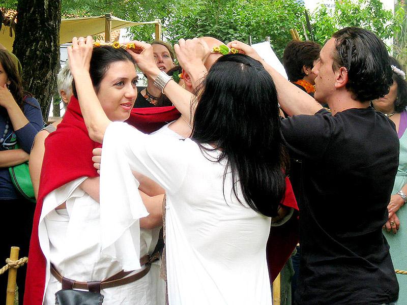 matrimonio celtico incoronazione