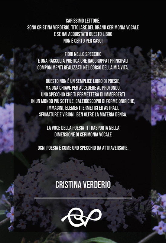quarta copertina fiori nello specchio poesia contemporanea italiana