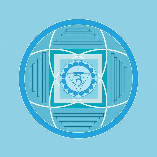 5 chakra vishuddha asana gola voce comunicazione azzurro