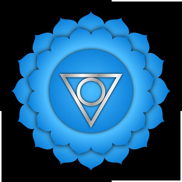 simbolo vishuddha colore blu chiaro